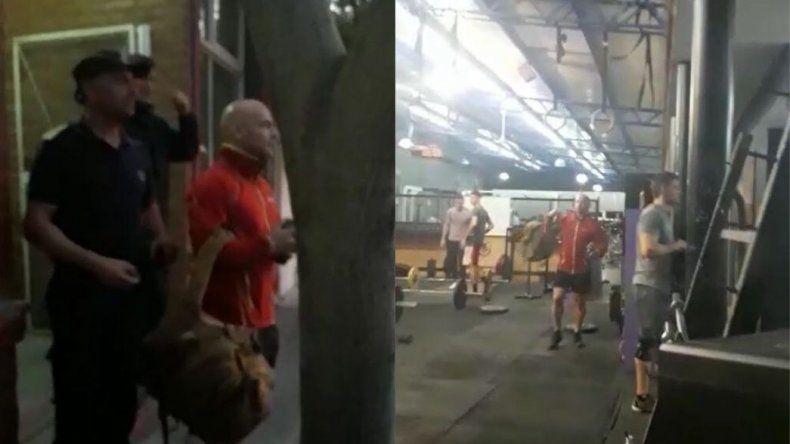 Docentes escracharon a Massoni mientras hacía gimnasia