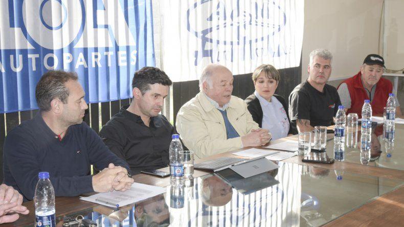 La conferencia de prensa de la última fecha de la temporada del automovilismo provincial.