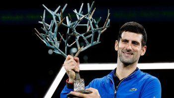 El serbio Novak Djokovic viene de consagrarse campeón en París.