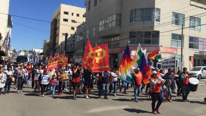 Movilización en Comodoro en repudio a la crisis en Bolivia