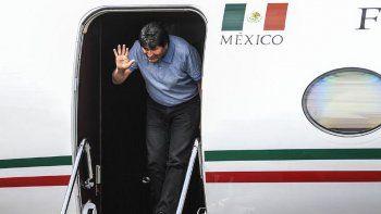 Evo Morales aterrizó en México como asilado político