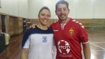 Matías Alvarez junto a Luciana Codesal, la primera chubutense en formar parte de La Garra.