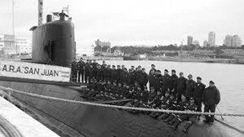 Una de las últimas imágenes del ARA San Juan y su tripulación, tomada en su puerto de asiento en Mar del Plata.