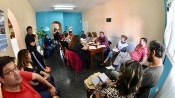 El Consejo Directivo de ATECh en la reunión donde rechazó la oferta del Gobierno.