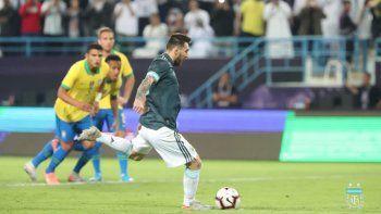 messi le dio la victoria a argentina contra brasil