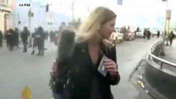 brutal ataque a periodista argentina