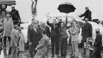 Un día como hoy Perón volvía al país tras 17 años de exilio.