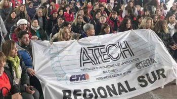 Docentes de la Regional Sur de ATECh rechazaron la última propuesta del Gobierno provincial.