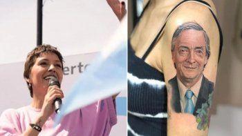 la intendenta electa de quilmes se tatuo el rostro de nestor kirchner