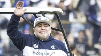 Diego Maradona se fue de Gimnasia cuando había dirigido solo ocho partidos con tres victorias y cinco caídas.