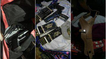 Secuestraron armas y municiones