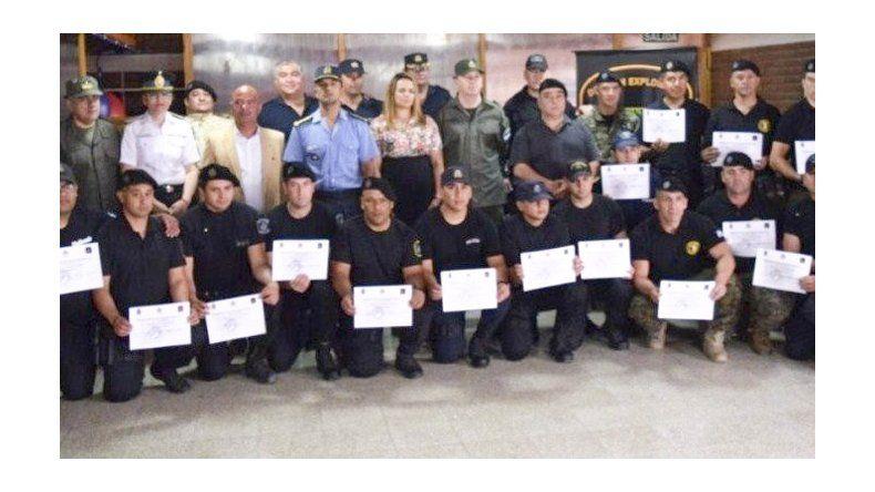 La División Explosivos de la Policía del Chubut se creó el 6 de marzo del año pasado y sus integrantes continúan capacitándose