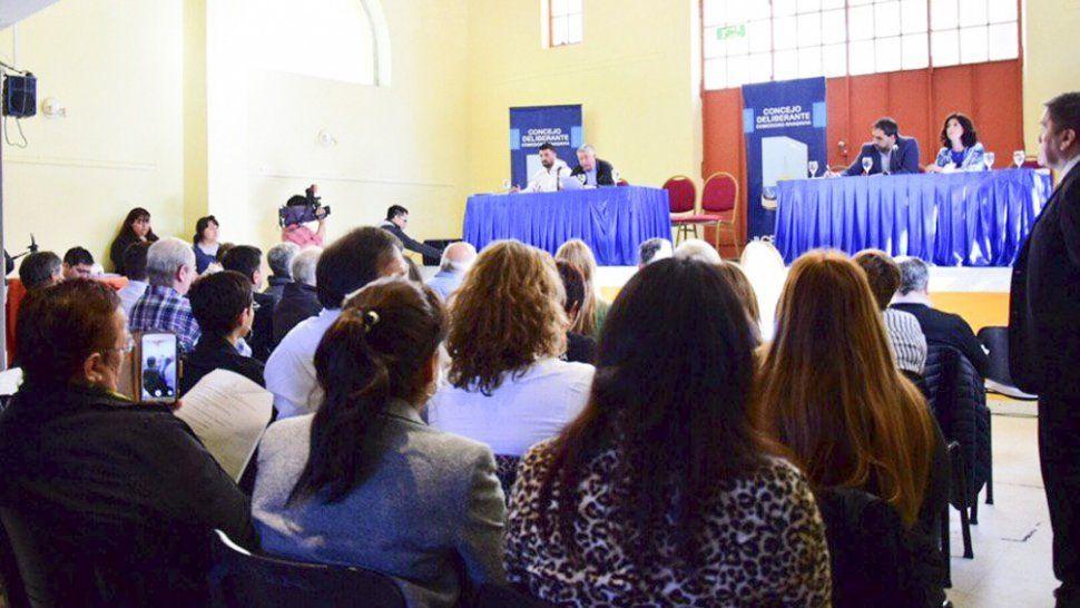 Las audiencias públicas se realizaron en el Centro de Exposición y Promoción Turística debido a la cantidad de oradores.