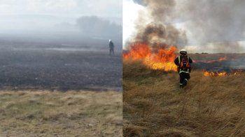 el incendio en sarmiento ya consumio 40 hectareas