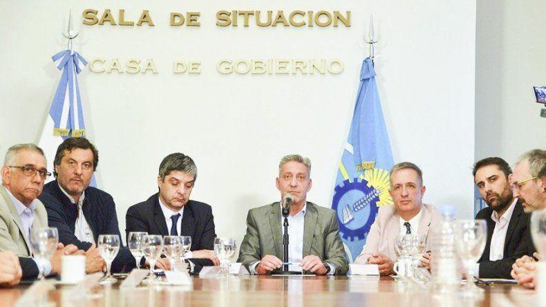 El gobernador Mariano Arcioni encabezó ayer la última reunión con su gabinete saliente.