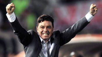 Marcelo Gallardo, DT de River Plate que luego del partido ante San Lorenzo festejará la conquista que el 9 de diciembre logró su equipo en Madrid.