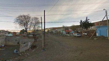El sector del barrio San Martín donde se encuentra la vivienda en la que se produjo el hallazgo del cuerpo.