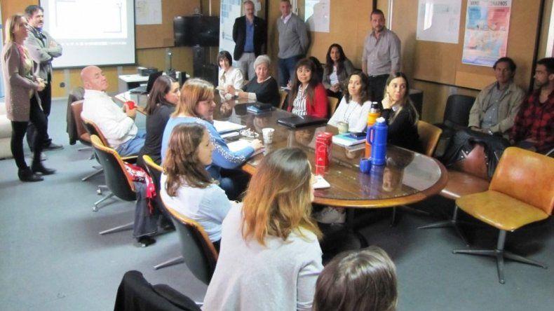 La reunión entre representantes del Gobierno de Chubut y diputados provinciales electos.