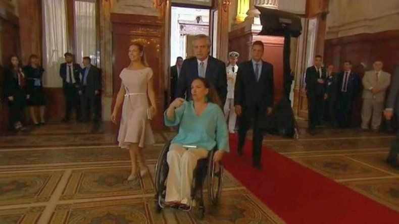 El gesto de Alberto Fernández con Gabriela Michetti