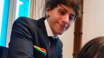 Dyhzy Fernández se sacó una foto informal con su novia en la Casa Rosada