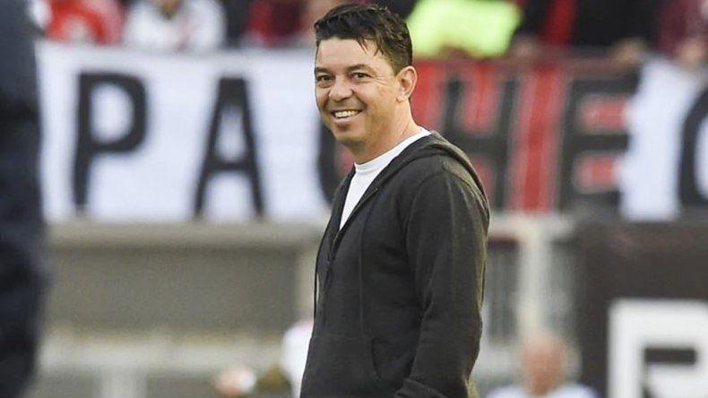 Marcelo Gallardo anunció su continuidad en River en una conferencia de prensa.