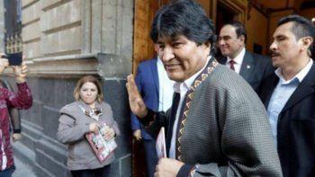 evo morales arribo a la argentina