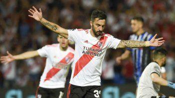 Ignacio Scocco podría ser esta noche uno de los delanteros titulares cuando River se mida con Central Córdoba de Santiago del Estero.