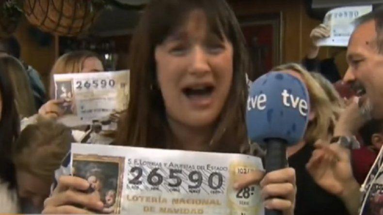 Una movilera ganó la lotería y explotó en vivo