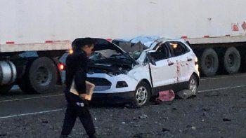 Accidente fatal sobre ruta 3 entre Caleta  - Comodoro