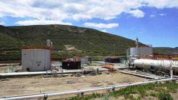 La planta deshidratadora del yacimiento Bella Vista Oeste.