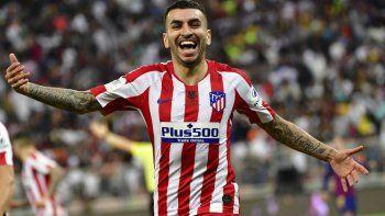 Angel Correa le dio el triunfo por 3-2 al Atlético de Madrid, a los 41 minutos del segundo tiempo.