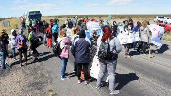 Siguen los cortes en el acceso a Madryn por Ruta 3