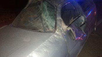 vuelco en la autovia madryn-trelew: un joven en estado delicado