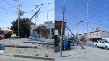 Un camión provocó la caída de postes y dejó sin luz a todo el Pueyrredón