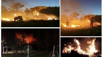 Un incendio preocupó a todos en el Valle