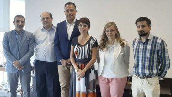 El vicegobernador Eugenio Quiroga encabezó la delegación de funcionarios santacruceños que se reunieron por separado con autoridades de Aerolíneas Argentinas (foto) y LADE.