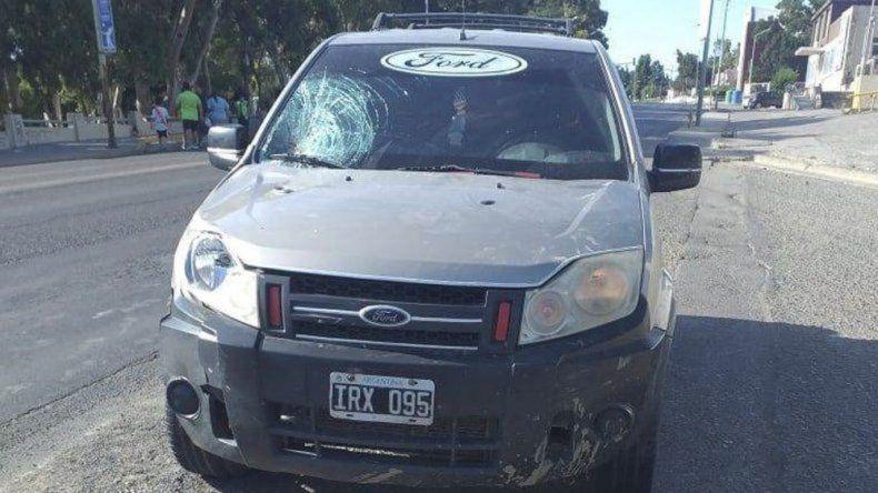 El vehículo involucrado en el fatal accidente de ayer a la mañana en Kilómetro 3.