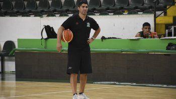 Martín Villagrán, entrenador de Gimnasia, que este viernes se enfrentará al poderoso San Lorenzo en una de las semifinales del Final 4.