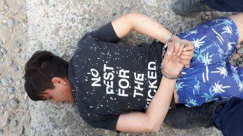 persecucion por un robo en km. 5 termino con tres detenidos