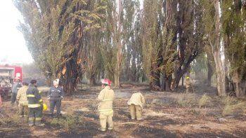 controlan incendio de pastizales en zona de chacras