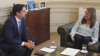 El ministro de Educación de la Nación, Nicolás Trotta, recibió en su despacho a la gobernadora Alicia Kirchner.