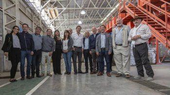 Los intendentes de Caleta Olivia y Rada Tilly visitaron la planta acompañados por sus equipos de trabajo.