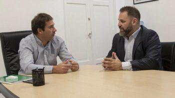La reunión del intendente Luque con José Glinski, jefe de la PSA.