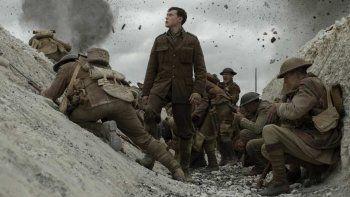 En 1917, Sam Mendes aporta su singular visión a una nueva epopeya visceral inspirada por las experiencias de su abuelo y otros soldados que lucharon en la I Guerra Mundial.