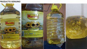 prohiben un falso aceite marolio