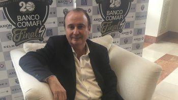 Gerardo Montenegro, presidente de la Asociación de Clubes, durante la entrevista que mantuvo con El Patagónico.