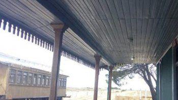 La antigua e inactiva estación de trenes de Jaramillo está siendo restaurada para el funcionamiento de un museo que llevará en nombre de Facón Grande.