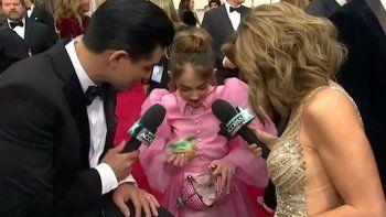 El menú de los Oscars era vegano y ella llevó su sándwich por las dudas