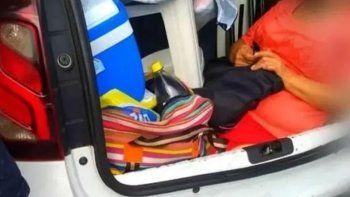 argentino fue detenido en brasil por llevar a su suegra en el baul