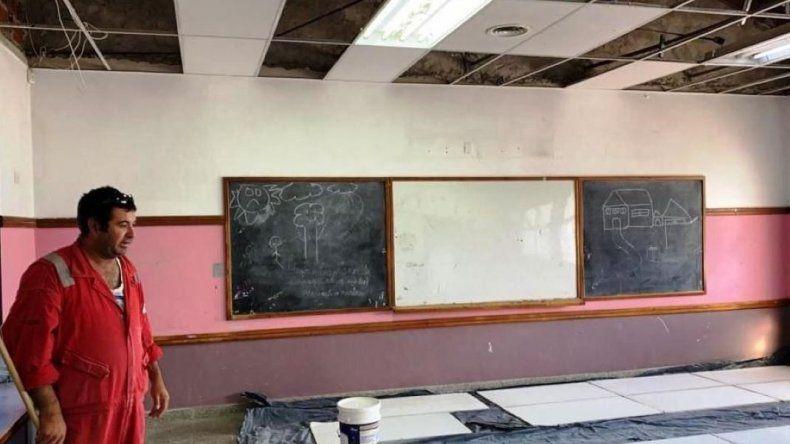 Refaccionan la Escuela N° 738 del barrio San Cayetano